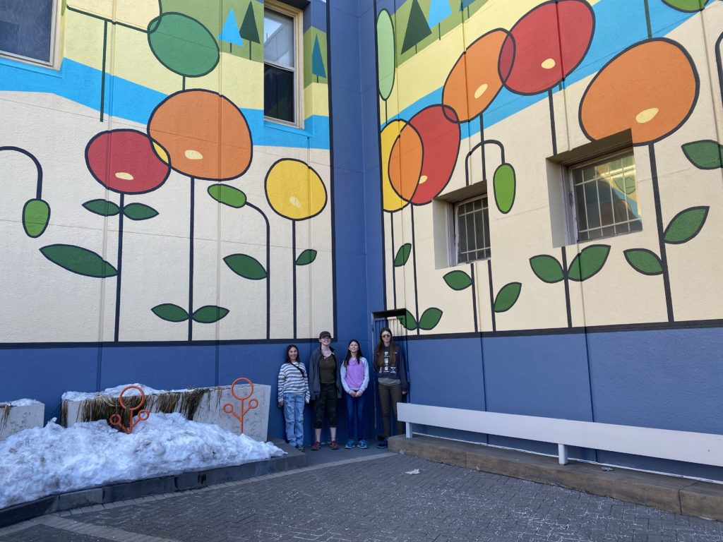Downtown murals and sculptures